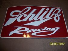 "4"" X 7""  Schlitz Racing (New Burgundy and White STICKER)"