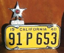 1940 thru 1955 California Plate Chrome LICENSE FRAME