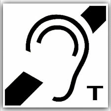 Hard of Hearing Induction Loop Sticker-Disabled,Disability,Deaf-with T Sign Aid