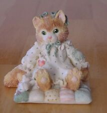 "Calico Kittens ""You'll Always be Close to My Heart"" Cat on Quilt"