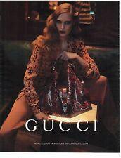 PUBLICITE 2012  GUCCI nouvelle collection de sacs