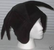 NEW fleece jester snowboard hat- solid black
