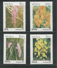LAOS # 1292-1295 MNH FLOWERS