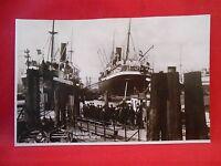 Postkarte Marine Schiffe Original Hamburg Partie im Hafen