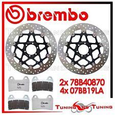 Dischi Freno Anteriore BREMBO + Pastiglie LA DUCATI MONSTER S2 R 1000 2007 870