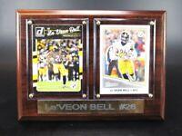 Le´Veon Bell Pittsburgh Steelers Holz Wandbild 20 cm,Plaque NFL Football !!