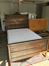 Antique Oak bedroom set, full size with matching dresser