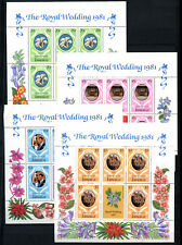 Jamaica 1981 SG#516-519 Royal Wedding MNH Sheetlets Set #D53886
