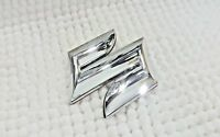 Suzuki Chrome Letter Badge Logo with Sticker Rear Boot Trunk 85mm x 68mm