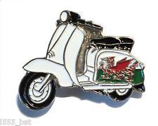New Wales Welsh Dragon Flag Scooter MOD Metal Scooterist Bike Enamel Badge
