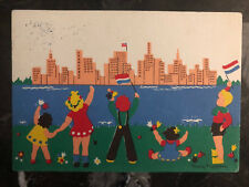 1946 Netherlands PostCard Cover Thank You to USA Child For Liberation from Nazis