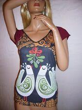 Sommer Shirt,Neu,Gr.S-M+L,Turtel-Tauben,Boho,Hippie Ethno,Vintage,Retro,Party
