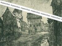 Nördlingen - Die Gerbergasse - Nach einer Radierung um 1920 -  W 21-1
