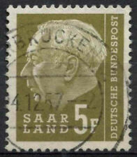 Saar 1957 SG#408, 5f President Heuss Definitive Used #A81320