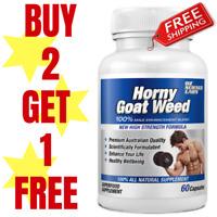 Horny Goat Weed For Him - 60 Caps | Tribulus | Tongkat Ali | Maca | Men | Pills