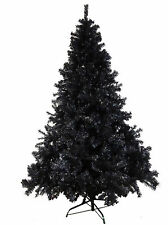 HIGH QUALITY 7ft 210cm TALL BLACK  XMAS CHRISTMAS TREE ARTIFICIAL 1500 TIPS SALE