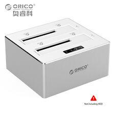 ORICO External Hard Drive Docking Station USB3.0 Dual-Bay Storage Offline Clone