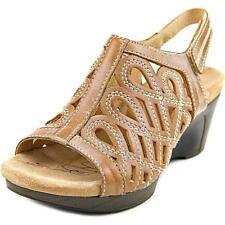 Sandalias con tiras de mujer marrón, talla 36