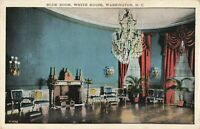 Postcard Blue Room White House Washington DC