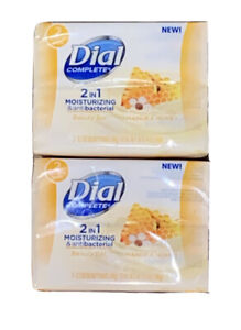 Dial Complete 2 in 1 Moisturizing Antibacterial Manuka Honey Beauty Bars, 4 Pack