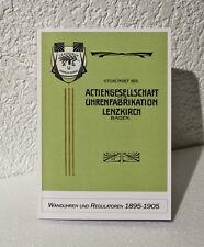 Lenzkirch Katalog 1895-1905, Wanduhren und Regulatoren, Uhrenbuch, Musterbuch