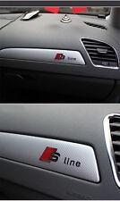 S Line interni auto in lega d'argento di alta qualità Adesivo Decalcomania Emblema Per Audi