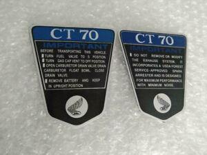 Emblem Honda CT70 K1 Blue Aluminum pair