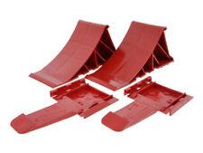 2x Tripus Anhänger Keile Unterlegkeile Bremskeile Hemmschuhe Rot Anhängerkeile