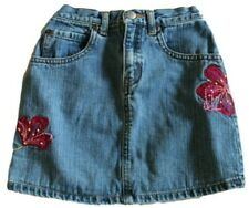 d321254a5c GAP Toddler Girls Floral Applique Jean Skirt Size 4 Perfect Condition Super  Cute