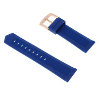 19mm 20mm 21mm 22mm 24mm Blue Silicone Watch Band Strap for Sport Watches
