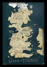 (FRAMED) GAME OF THRONES MAP POSTER 96x66cm PRINT PICTURE HOME DECOR