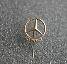 Vintage Mercedes 100,000 Km lapel pin .835 silver with gold plating