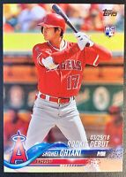 SHOHEI OHTANI 2018 Topps Update #US286 Rookie Debut RC Flagship Card LA ANGELS