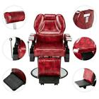 Hydraulic Reclining Barber Chair Equipment with Footrest for Salon Hair Styling