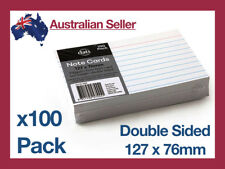 100 Pack Index Cards Feint Ruled 127 x 76mm Lined Presentation Notes Flash Card