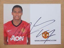 2012-13 Antonio Valencia firmado Man Utd Oficial Club tarjeta (13819)