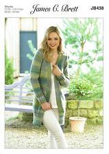 James C Brett JB438 Knitting Pattern Womens Cardigan / Jacket in Marble Chunky