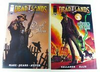 DEADLANDS: DEATH WAS SILENT (2011) #1 + DEVIL'S SIX-GUN #1 Lot VF to VF+ Western