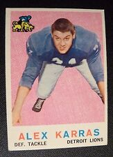 1959 Topps #103 ALEX KARRAS DETROIT LIONS EX / NM Football Card IOWA Hawkeye !!!