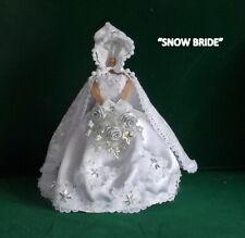 """DOLLS HOUSE BRIDAL SHOP - """"SNOW BRIDE"""" -  MINIATURE BRIDAL OUTFIT"""
