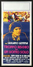 l'affiche du film TROP DE RISQUES POUR UN UOMO SEULEMENT gemma, scott, ERCOLI