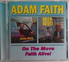 ADAM FAITH - CD - On The Move - Faith Alive - LIKE NEW
