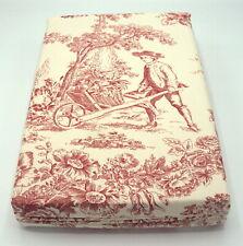 Pink Toile De Jouy Super King Duvet Cover 260cms x 220cms