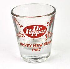Dr Pepper Cola Glas USA Stamper Stamperl Schnapsglas shot glass 1987