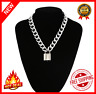 Goth Padlock Chain Necklace Men/Women Punk Choker Lock Pendant Fashion Necklace