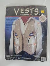 Vintage New Make Your Own Cheerful Snowman Vest by Dimensions 1995 Made in Usa