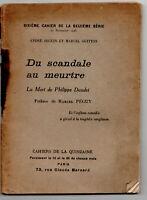 Petite rareté > Mort de PHILIPPE DAUDET Cahiers de la Quinzaine M. Péguy 1925