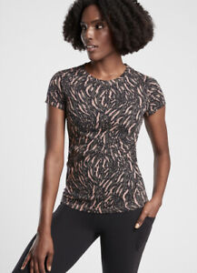 Athleta Organic Daily Printed Tee - Color: Abstraction Black/ Peat NWOT Large