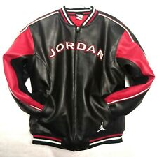 Vintage Michael Jordan Jumpman #23 Embroidered  Bomber Motorcycle Jacket XL