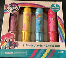 My Little Pony 4 Pack Jumbo Chalk Set. Twilight Sparkle, Pinkie Pie, RainbowDash